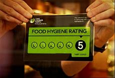 Photograph of food hygiene rating sticker