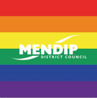 Mendip flying the rainbow flag in support of Pride!