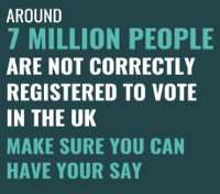 An image relating to Reminder to Local residents to respond to important voter registration form