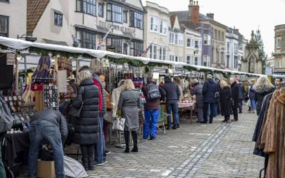 Christmas Stalls in Wells 2018