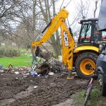 An image relating to Council clear waste at Pomparles Bridge, Glastonbury