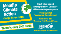 An image relating to Mendip Climate Action Drop-in Event in Wells - Postponed until further notice