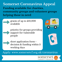 An image relating to Somerset Coronavirus Appeal offers grants for groups helping people in need