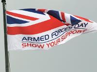 An image relating to Mendip marks Armed Forces Day by raising a flag to service personnel