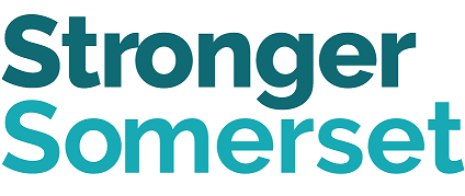 Stronger Somerset text logo