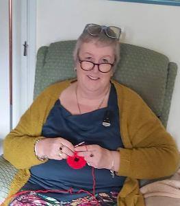 Ruthie Dixon of Street the 'Queen of Crocheted Poppies'