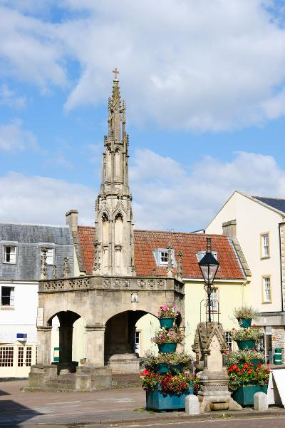 Shepton Mallet town centre view